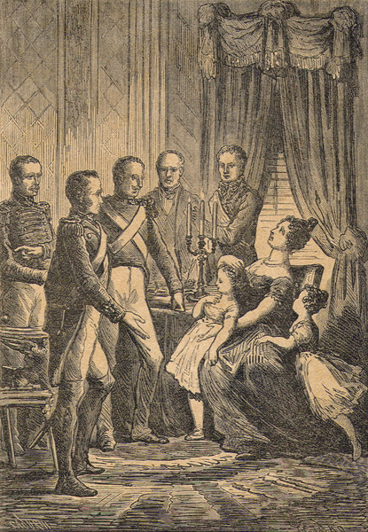 Sergeants of La Granja forcing Christina to pass the Constitution of 1812